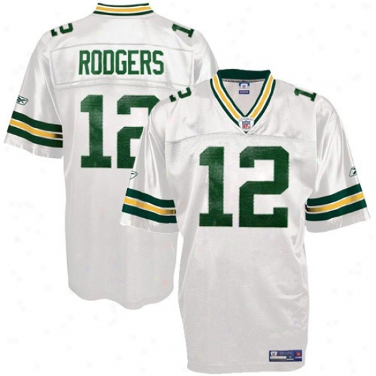 Green Bay Packer Jerseys : Reebok Green Bay Packer #12 Aaron Rodgers Youth White Replica Football Jerseys