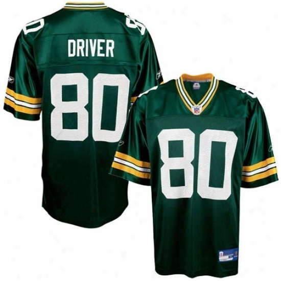Green Bay Packer Jerseys : Reebok Nfl Equipment Green Bay Packer #80 Donald Driver Youth Green Replica Football Jerseys
