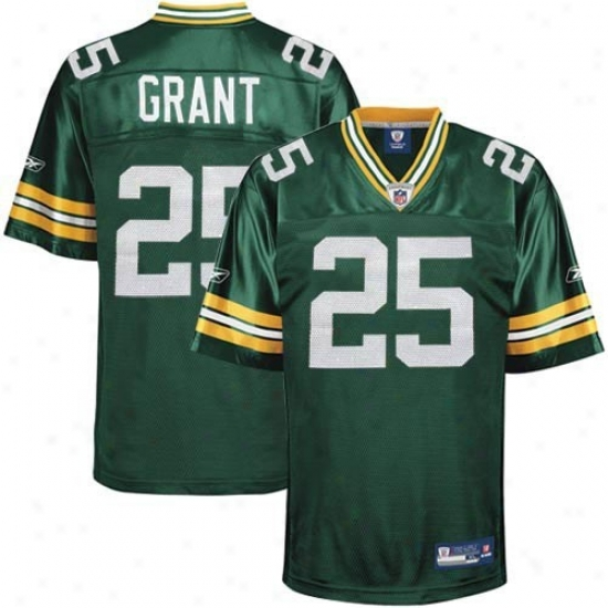 Green Bay Paacker Jerseys : Reebok Nfl Equipment Green Bay Packer #25 Ryan Grant Youth Green Reploca Football Jerseys