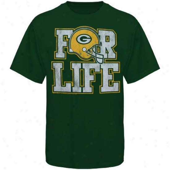 Green Bay Packer Shirts : Junk Feed Green Bay Packer New During Life Premium Shirts