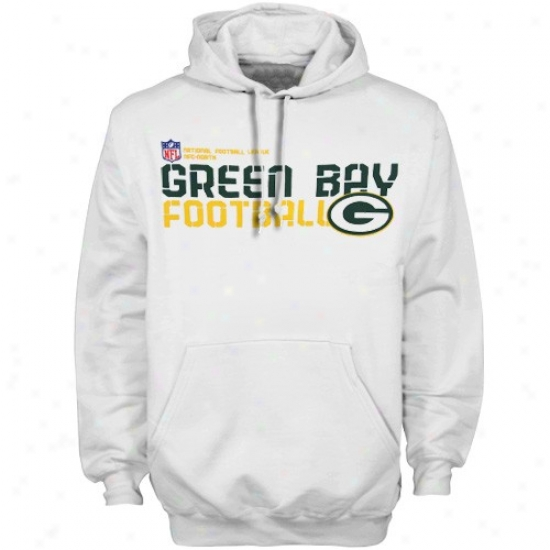 Gre3n Bay Packer Sweatshirt : Reebok Green Bay Packer White Sideline Tacon Sweatshirt Pullover Sweatshirt