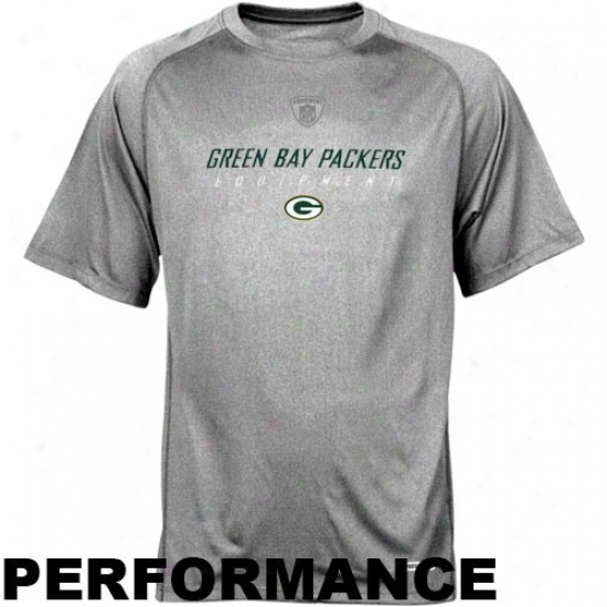 Green Bay Packer Tshirt : Reebok Nfl Equipment Green Bay Packer Ash Equipspeed Performance Tshirt