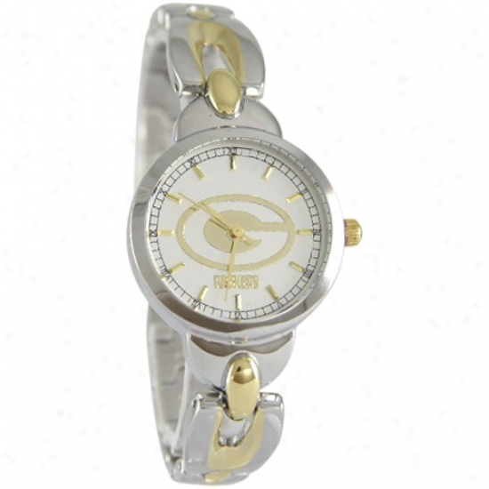 Green Bay Packer Watches : Green Bay Packer Ladies Stainless Steel Elegance Watches