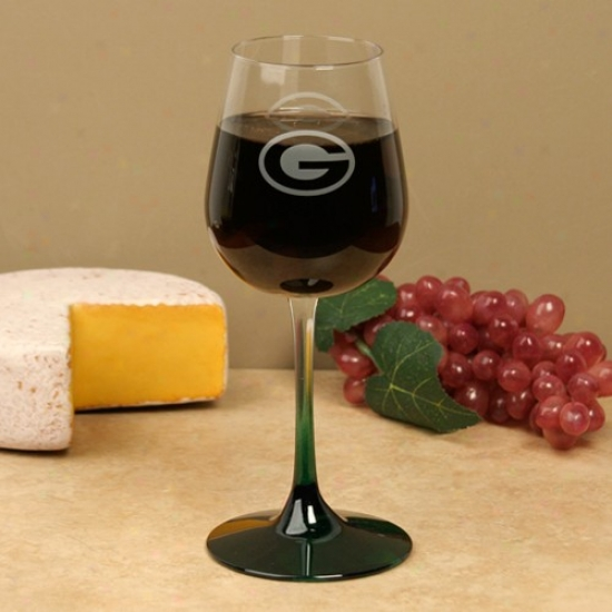 Green Bay Packerz 16 Oz. Wine Glass