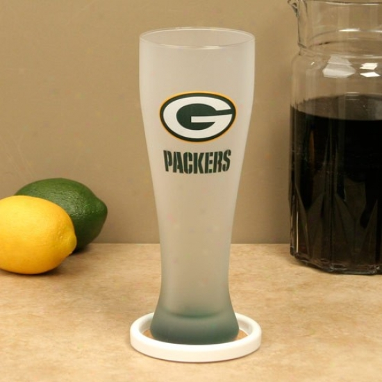 Green Bay Packers 23oz. Frosted Pilsner Glass