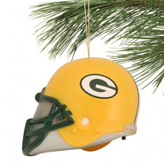 Green Bay Packers 3'' Acrylic Light-up Football Helmet Ornament