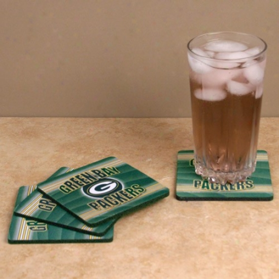 Green Bay Packers 4-pack End Zone Neoprene Coasters
