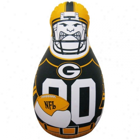 Green Bay Packers 40'' Inflatable Tackle Buddy Punching Bag