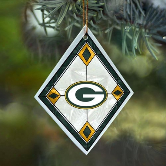 Green Bau Packers Art-glass Ornament