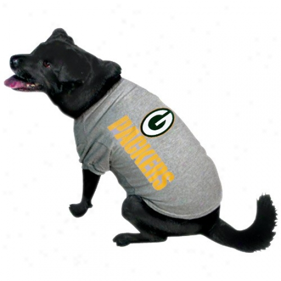 Green Bay Packers Ash Logo Pet T-shirt