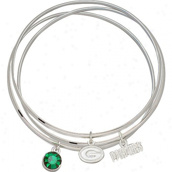 Green Bay Packers Bangle Bracelet Set
