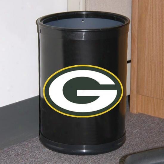 Green Bay Packers Black Team Wastebasket