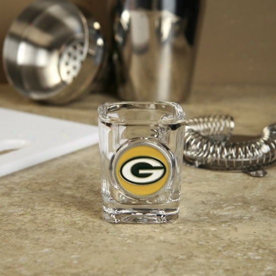 Green Bay Packers Circle Logo 2 Oz. Square Shot Glass