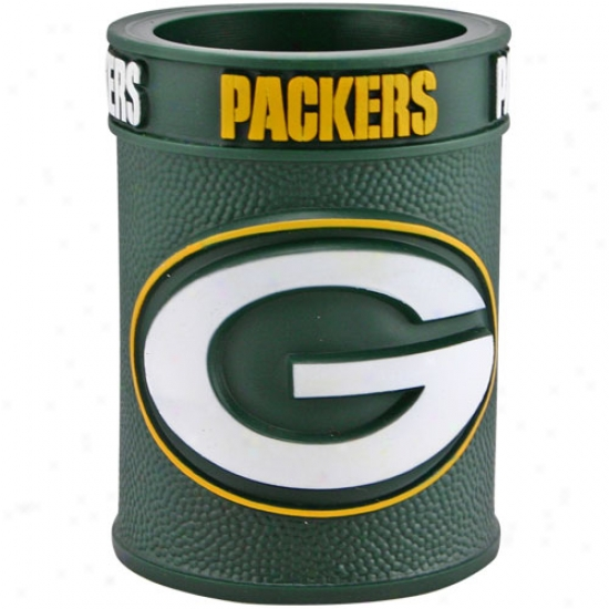 Green Bay Packers Embossed Plastic Can Coozie