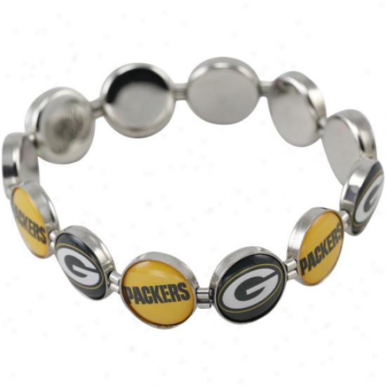 Green Bay Packers Enamel Attraction Beaded Bracelet