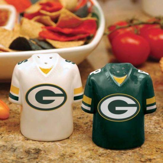 Green Bay Packers Gameday Ceramic Salt & Pepper Shakers