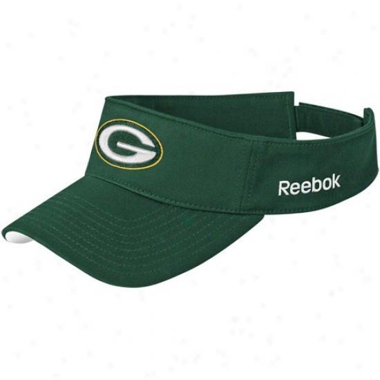 Green Bay Packers Gear: Reebok Green Bay Packers Unripe Coaches Sideline Adjustable Visor