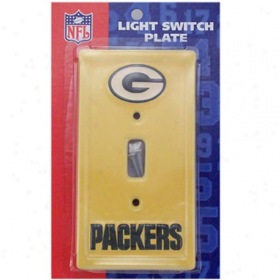 Green Bay Packers Gold Light Switch Cover