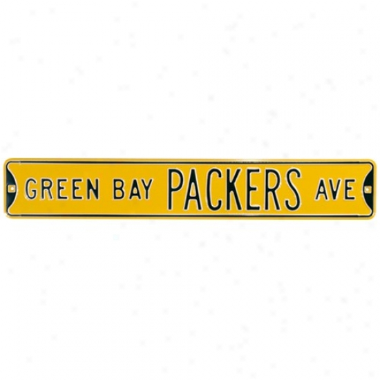 New Bay Packers Gold Nfl Steel Street Symbol