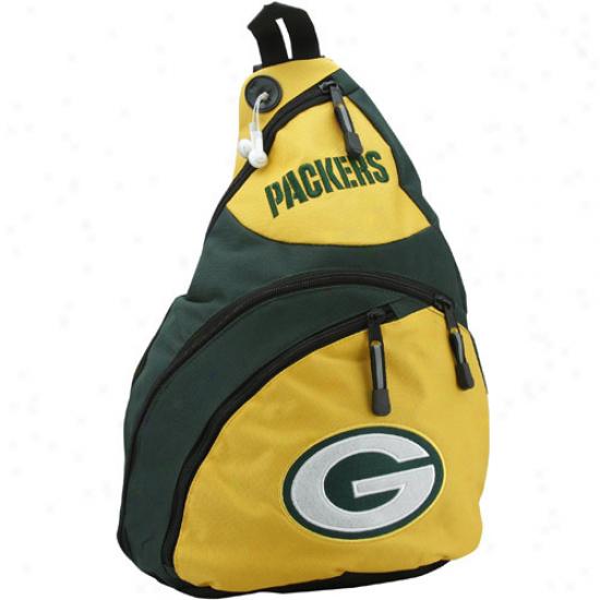 Green Bay Packers Gold Slingshot Sling Sack