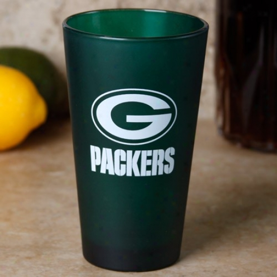 Verdant Bay Packers Green 16oz. Frosted Pint Glass