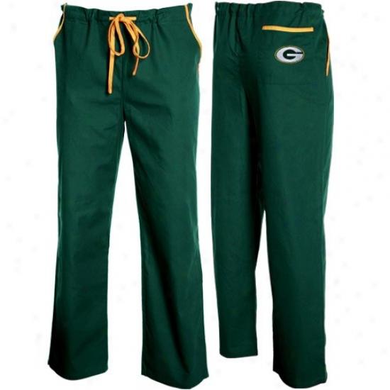 Green Bay Packers Green Basic Unisex Wealthy Scrub Pants