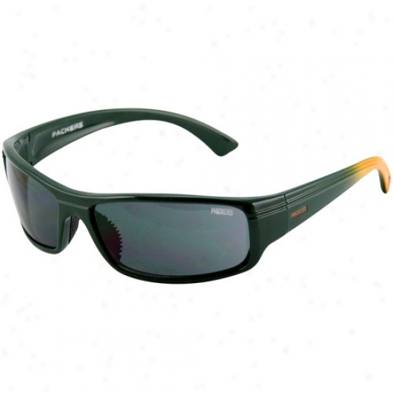 Green Bay Packers Green-gold Fade Block Sunglasses