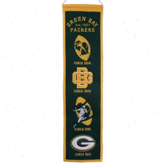 Green Bay Packwrs Green Heritage Banner