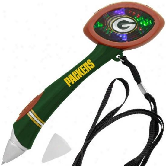 Green Bay Packers Green Light-up Mirror Pen