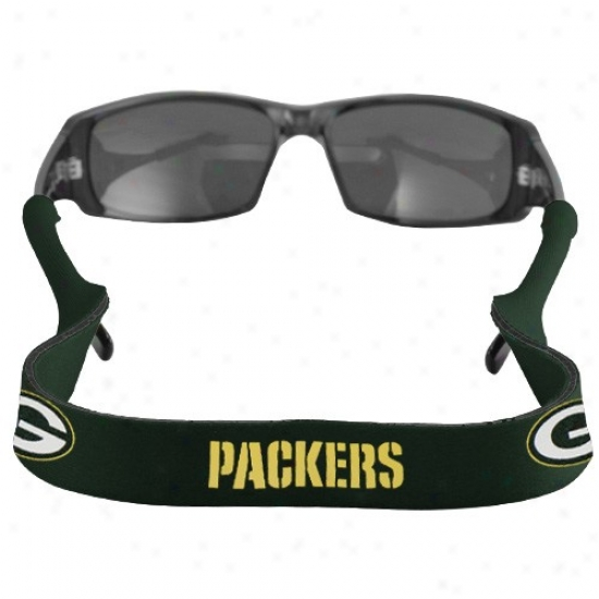 Inexperienced Bay Packers Green Neoprene Retainer Sunglasses Holder