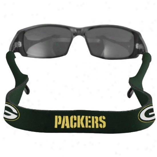 Inexperienced Bay Packers Green Neoprene Retainer Sunglasses Holder