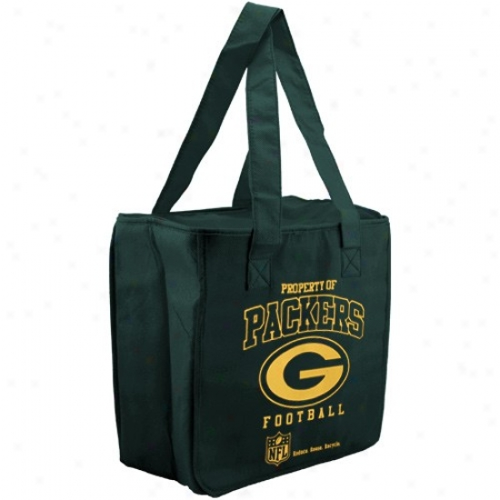 Green Bay Packers Green Reusable Insulated Carry Bag