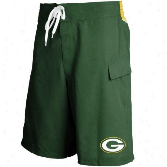 Green Bay Packers Green Team Logo Boardshorts