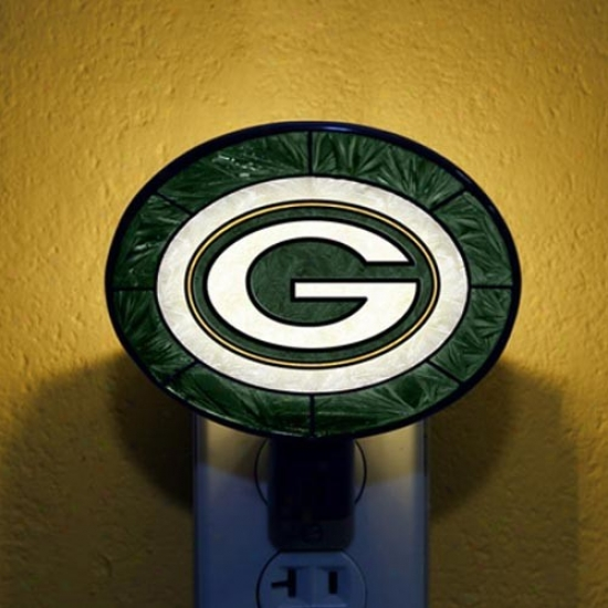 Green Bay Packers Hamd-painted Glass Nightlight