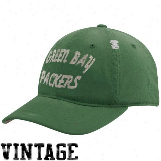 Green Bay Packers Hat : Reebok Green Bay Packers Green Vintage Flex Slouch Hat