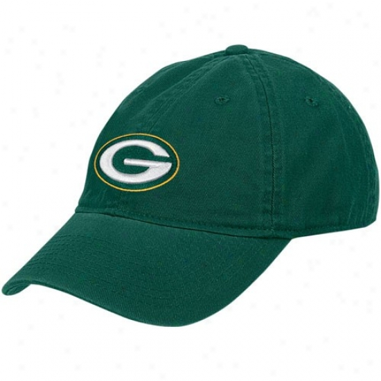 Green Bay Packers Hats : Reebok Green Bay Packers Green Ladies Basic Slouch Hats