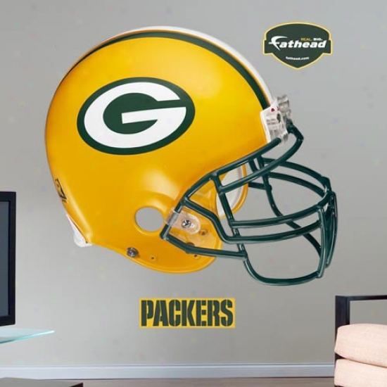 Green Bay Packers Helmet Fathead Wall Sticker
