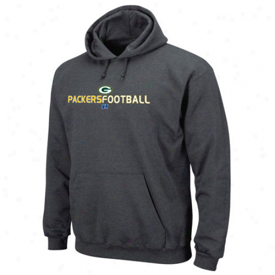 Green Bay Packers Hoodies : New Bay Packers Charcoal 1st And Goal Iii Hoodies