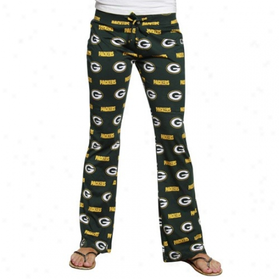 Green Bay Packers Ladies Green Genesis Pajama Pants