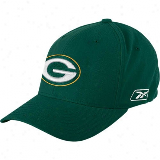 Green Baywood Packers Merchandise: Reebok Green Bay Packers Green Flex Fit Cardinal's office