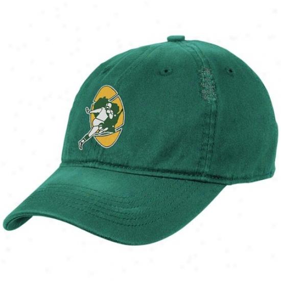 Green Bay Packers Merchandise: Reebok Green Bay PackersG reen Heat Flex Fit Vintage Hat
