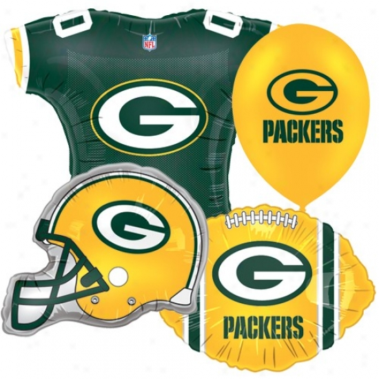 Unseasoned Bay Packers Party Balloon Set