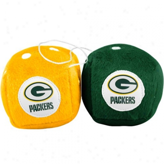 Green Bay Packers Plush Team Fuzzy Dice