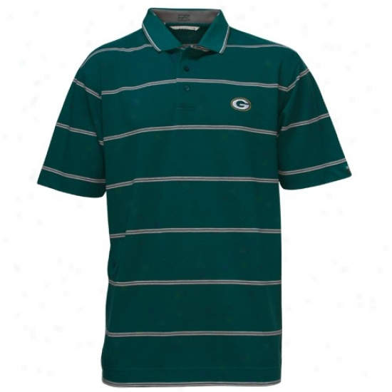 Green Bay Packers Polo : Cutter & Buck Green Bay Packers Green Striped Tailgate Polo
