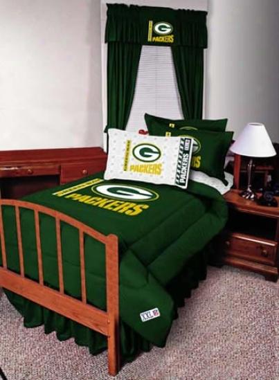 Green Bay Packers Queen Size Bed Skirt