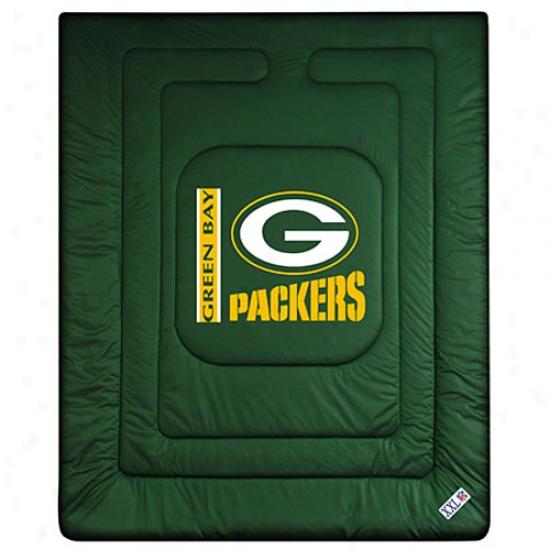 Green Bay Packers Queen/full Size Locker Room Comforter