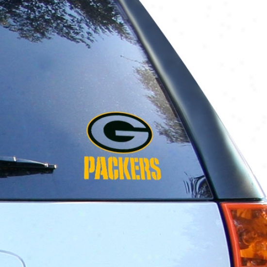 Green Bay Packers Small Window Cling