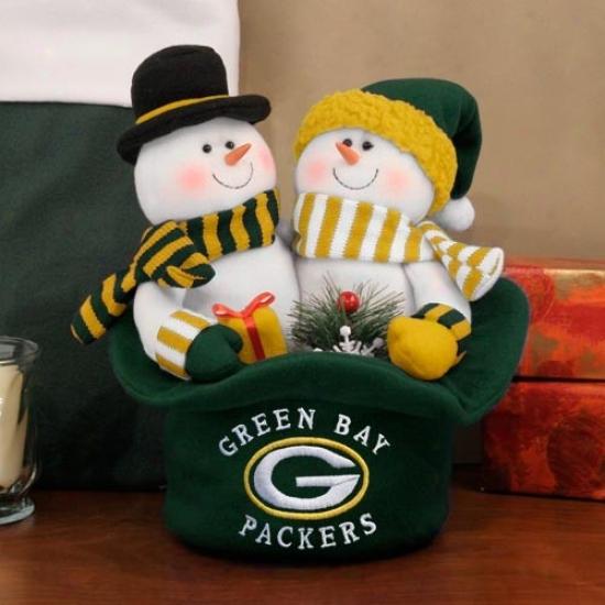 Green Bay Packers Snowmen Top Hat