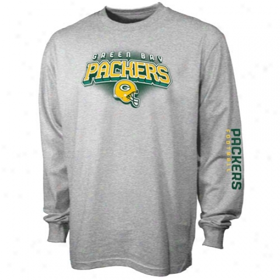 Green Bay Packers T-shirt : Reebok Green Bay Packers Youth Awh Complete Long Sleeve T-shirt