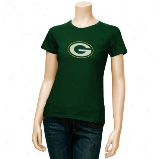 Lawn Bay Packers T Shirt : Reebok Green Bay Packers Ladies Green Logo Premier T Shirt